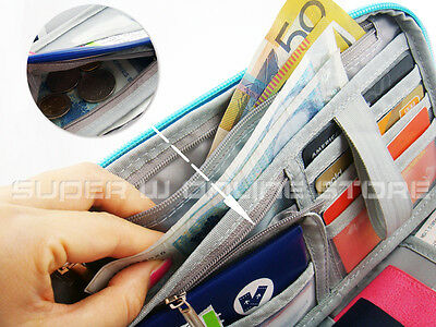 RFID Travel Wallet Passport Card Holder Pouch Organiser iPhone XS Zip Case Tag 7