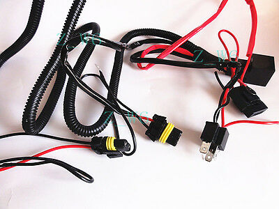XENON H4 9003 HID Relay Wiring Harness Hi/Lo Controller high ... on