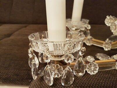 alter gro er 6 armig kristall kronleuchter antik stil schabby messing eur 250 00 picclick de. Black Bedroom Furniture Sets. Home Design Ideas