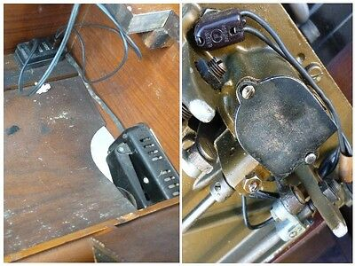 Antique 'Free Westinghouse' Sewing Machine Type E in Ornate Cabinet 12