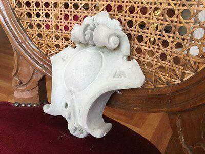 kleine Barock Spange Stucco Mittelstein aus Stuckgips Kartusche