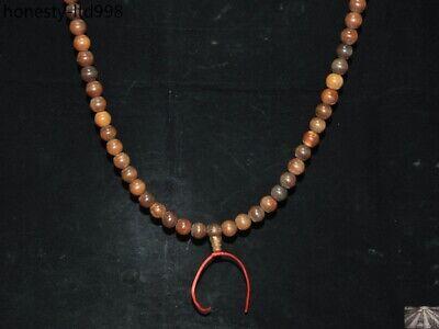 "36"" China Buddhism carved Buddha Bead Prayer beads Amulet Necklace 3"