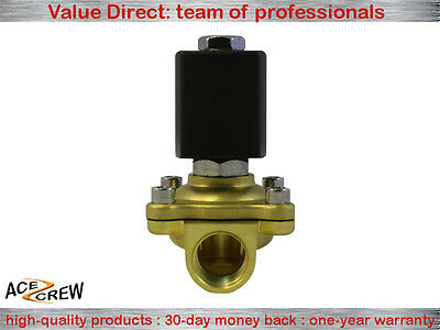 1//2 inch 110V-120V AC Brass Electric Solenoid Valve NPT Gas Water Air N//C