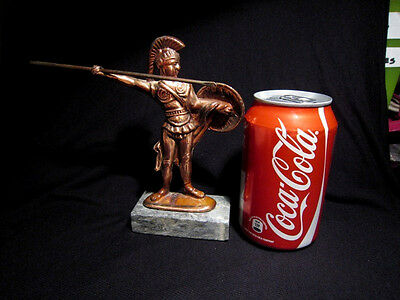 Attractive Vintage Copper Figurine, Greek Warrior!!! 5