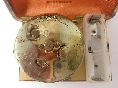 Vintage SETH THOMAS PHINNEY WALKER Light Alarm Portable Clasp Pocket Clock Pair 4