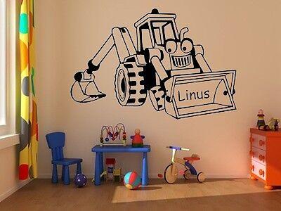 Wandtattoo Kinderzimmer Bagger 2 Wandaufkleber Spielzimmer Wandsticker bsm014
