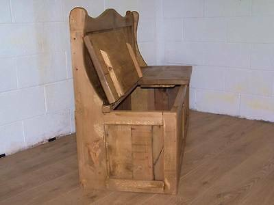 6Ft Wide 2 Seat Monks Storage Bench In Old Soli Rustic Pine We Can Make Any Size 5