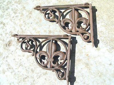 Two Cast Iron Shelf Brackets 2