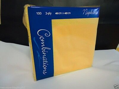 Paper Serviettes Soft Napkins 40x40cm 2PLY BulkySoft Solid Colours Choose Colours Black, 100