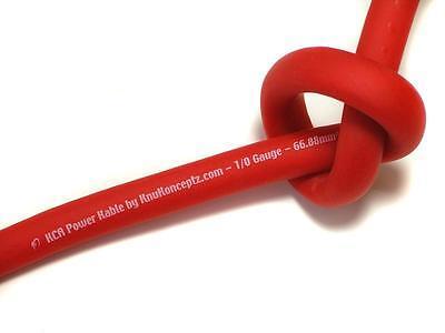 KnuKonceptz KCA Ultra Flex Red TRUE AWG 4 Gauge Power Wire 20 Feet 3