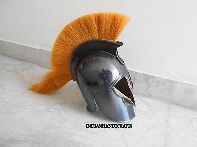 Greek Corinthian Troy Helmet  Collectible Spartan Black Antique Finish 3