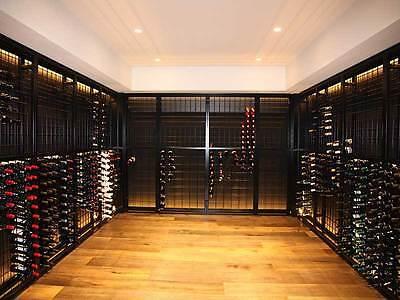 216 Bottle Powder Coated Black Galvanised Steel Metal Wine Storage Rack 2