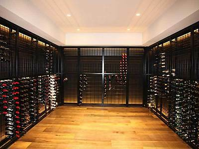 216 Bottle Steel Metal Wine Storage Rack Powder Coated Black over Galvanising 5