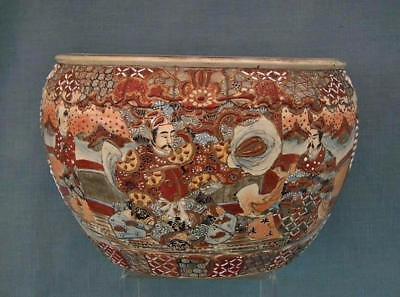 Authentic Antique 19th century Meiji Japanese Large Satsuma Planter 2