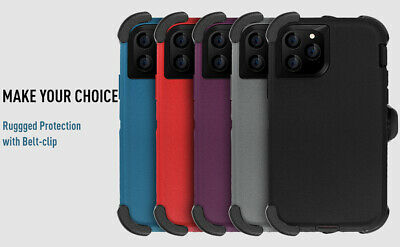 For iPhone 11 Pro Max Shockproof Hybrid Heavy Duty Case Full Cover W/ Belt Clip 3