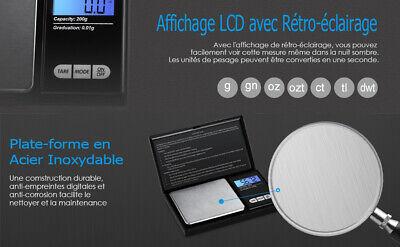 Balance De Poche Precision Electronique Cuisine Bijoux Fonction Tare Ecran LCD 9