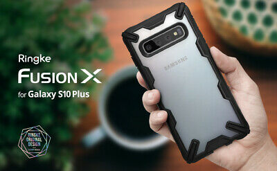 For Samsung Galaxy S10 Plus Case Ringke [FUSION-X] Shockproof Armor Bumper Cover 7