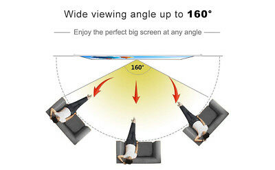100 Inch 16:9 Manual Pull Down Projector Projection Screen Home Theater Movie 5