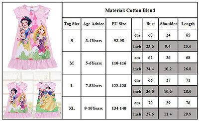 Kids Girls Cartoon Nightie Nightdress Sleepwear Pyjamas Nightgown T Shirt Dress 9
