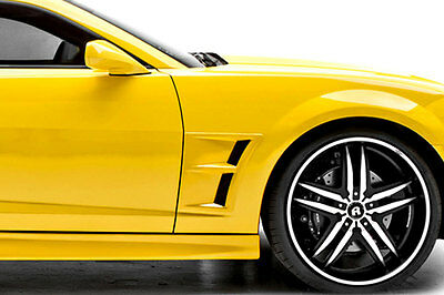 10-15 Camaro 3dCarbon Urethane Cut In Functional Front Fender Vents Ducts 691807