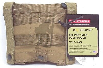 coyote brown USMC BAE Systems ECLiPSE Stowable Dump Bag MOLLE Pouch