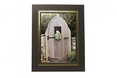 "BLACK 8 x 6/"" Photo Mounts KENRO STRUT PACKS Cardboard Picture View Holders"