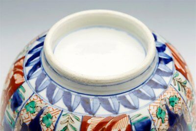Superb Antique Japanese Meiji Imari Patterned Figural Porcelain Bowl 19Th C. 4