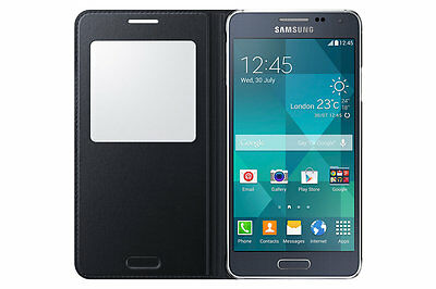 Original Samsung S VIEW FLIP CASE Galaxy ALPHA SM G850F smartphone book cover BL 2