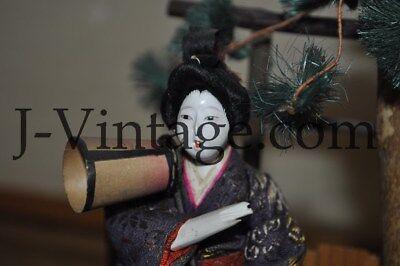 2 Antique Japanese Doll NINGYO Bodyguard & Princess HINA 6