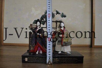 2 Antique Japanese Doll NINGYO Bodyguard & Princess HINA 4