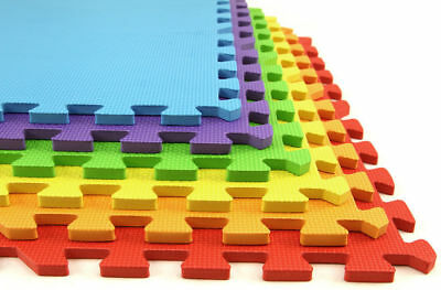 18 Pack Eva Foam Soft Play Mats Interlocking Kids Activity Set Floor 29cm Tiles 2