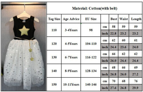 Flower Girl Princess Dress Kids Baby Party Wedding Pageant Tutu Skirts Clothes 7