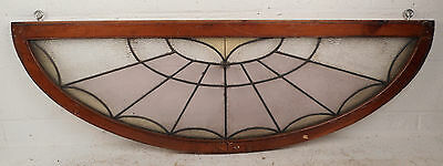 Vintage Arched Stained Glass Window (0204)NJ