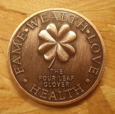 Horseshoe The Four Leaf Clover Good Luck Token