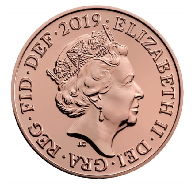 2017 2018 2019 1p coin one pence penny Shield Royal Mint Brilliant Uncirculated 4