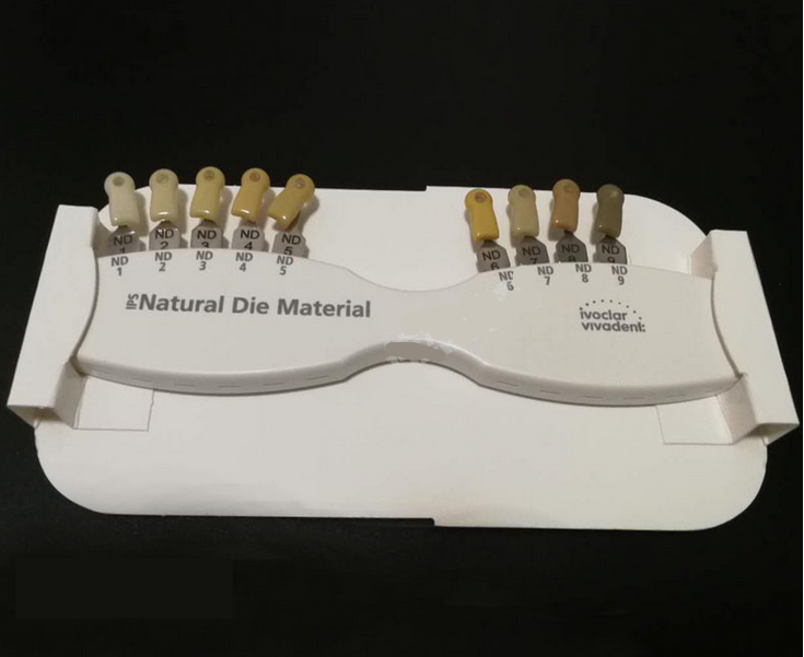 1 Box of Ivoclar Vivadent® Dental IPS Natural Die Material Shade Guide Abutment