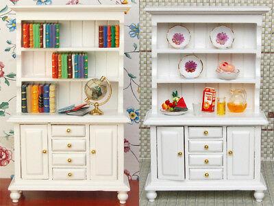 1/12 Dolls House Miniature Bedroom Kitchen Living Room Furniture Set Bed Cabinet 8