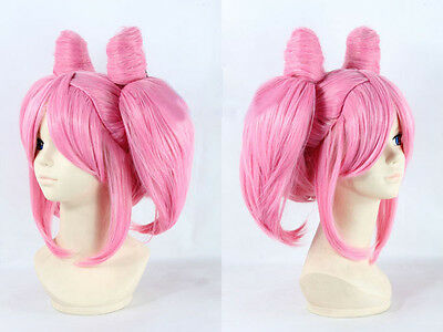 2 of 4 Pink Pigtails u0026 2 ponytails Cosplay Costume Wig Sailor Moon Chibi Moon Chibiusa & PINK PIGTAILS u0026 2 ponytails Cosplay Costume Wig Sailor Moon Chibi ...