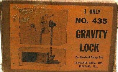 New Old Stock Vintage Gravity Latch/lock  For Overhead Garage Door Sets Dm 8