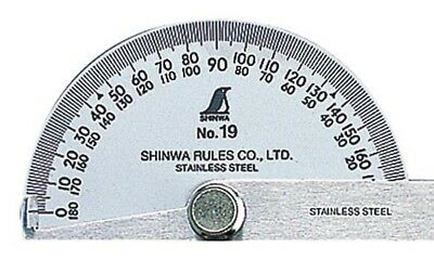 Shinwa japanese Stainless Steel Protractor with Round Head No.19 62480 Import 2