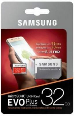 Samsung 32GB Micro SD Card SDHC EVO+ 80MB/s UHS-I Class 10 TF Memory Card HD 4