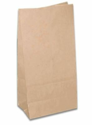 "100 x BROWN STRUNG KRAFT PAPER FRUIT BAGS - 7"" x 7"" 4"