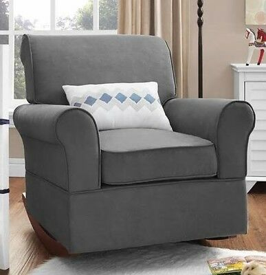Pleasing Gray Rocker Chairs Or Ottoman Rocking Chair Nursery Gmtry Best Dining Table And Chair Ideas Images Gmtryco