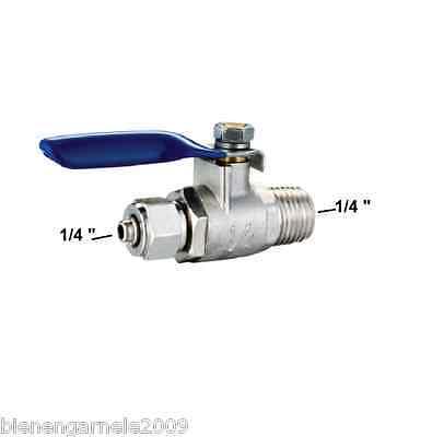 """Wasseranschluss Adapter + Absperrhahn 1/2"""" Osmoseanlage Wasserfilter Kugelventil 2"""