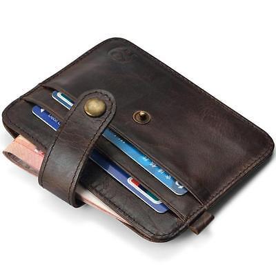 Business Men Leather Slim Credit Card Holder Mini Wallet ID Case Purse Bag Pouch