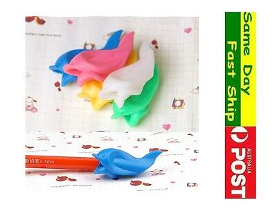 3x pencil grip kid Children Hand writing Correction Aid pen posture hold help 7