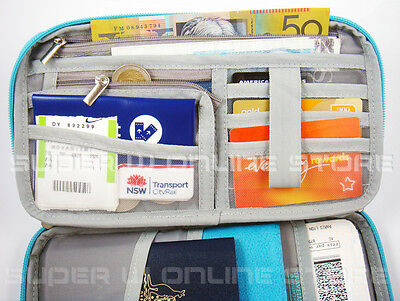RFID Travel Wallet Passport Card Holder Pouch Organiser iPhone XS Zip Case Tag 6