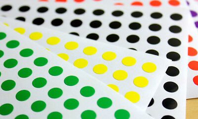 ASSORTED SIZES Colour Sticker Dots Adhesive Round Labels Circular Spot Scrapbook 4