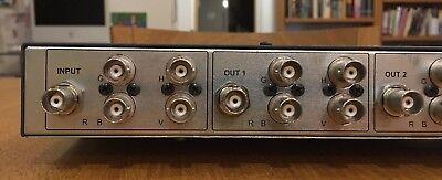 Kramer VP-123 RGBHV 1-in 3-out component / composite video distribution amp 7