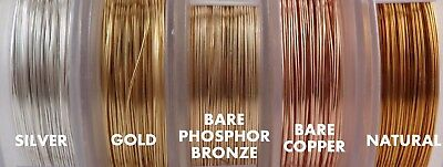 ARTISTIC WIRE Round Copper Craft REGULAR Spool 30 colors 5